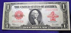 BEAUTIFUL1923 $1 LEGAL TENDER BLANKET NOTE