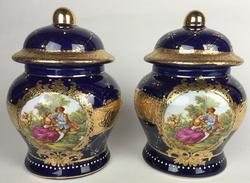 Pair of Rare Exquisite Highly Decorative Candy Jars