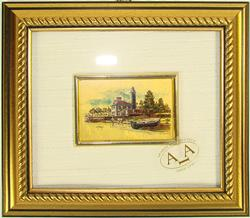 Limited Italian Collectible Handcrafted Gold Leaf Scenery Art