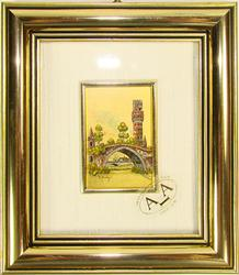 VERY COLLECTIBLE FINE CERTIFIED 23K GOLD LEAF SCENERY