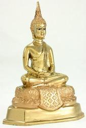 Gold Thai Buddha Statue Asian Buddhist Art
