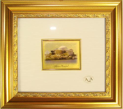 VERY COLLECTIBLE CERTIFIED 23K GOLD LEAF JEFFERSON MEM.