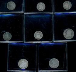 Lot of 8 Assorted Old US Type Coins Half Dimes & Dimes