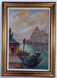 Handsome Venetian View, Oil on Canvas, Signed