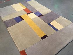 Contemporary Design Hand Made & Carved  Wool Rug 6x8