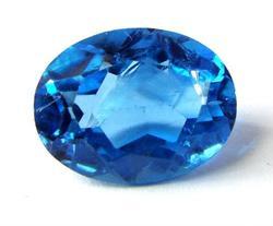 Huge Dazzling London Blue Topaz Oval Gemstone.