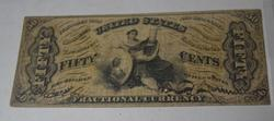 Scarcer 50 Cent Fractional Hand Signed Series March 1863