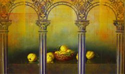 Original Still Life Oil by Leon Olmo
