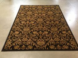 Decorative French allover damask design area rug 8x10