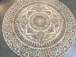 Round Decorative Ancient Design Area Rug