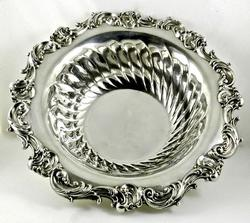 Ornate Sterling Serving Bowl