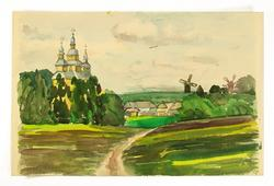 HIGHLY COLLECTIBLE YAKOVLEVICH ORIGINAL WATERCOLOR