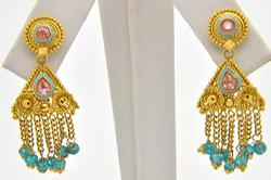 Pair of 22Kt Yellow Gold Earrings