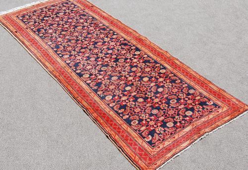 Beautiful Semi Antique Hand Woven Persian Nahavand Runner