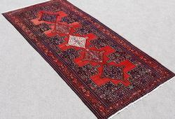 Mesmerizing Semi Antique Persian Senneh Runner 4.8x10.4