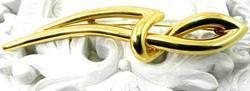 Artistic Modern 18kt Gold Brooch