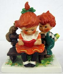 Redhead Figurines by Charlot Byj A young mans Fancy Porcelain Sculpture