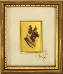 VERY COLLECTIBLE HANDMADE CERTIFIED 23K GOLD LEAF DOG