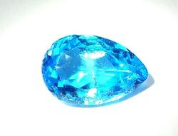 Dazzling London Blue Topaz Pear Cut VS Quality 7.85 cts