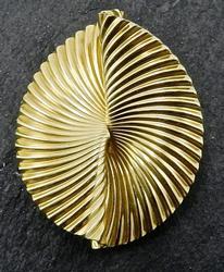 14kt Gold Geometric Broach by McTeigue