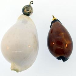 GLASS PENDANTS LOT OF TWO VINTAGE