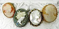 Vintage & Collectible Set of 4 Cameos