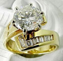 1.9 Carat Diamond Solitaire Engagement Ring