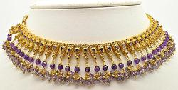 Amethyst Filled Necklace in 22Kt Yellow Gold
