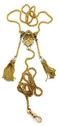 Vintage Victorian necklace in 14K gold