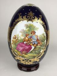 Very Rare Large Delightful Hand Painted Highly Decorative Large Egg