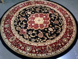 8' Round Decorative Classic Design Area Rug