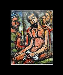 COLLECTIBLE ROUAULT, CHRIST MOCKED BY SOLDIERS GRAVURE