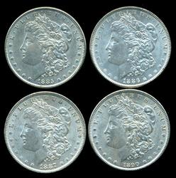 4 Diff. Nice and Attractive Morgan Silver Dollars