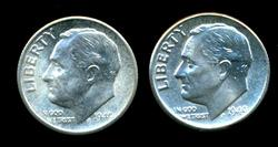 Superb Gem BU 1949-P & 1949-S Roosevelt Dimes