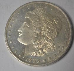 1885 O Prooflike Choice Gem BU Morgan  Dollar