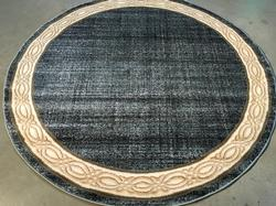 Classic Modern Solid Design 6' Round Rug