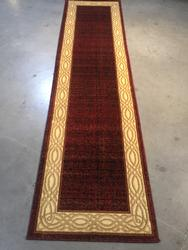 Classic Solid Design 8' Long Runner Rug