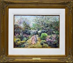 HIGHLY DETAILED H. CLAUDE PISSARRO LARGE PASTEL