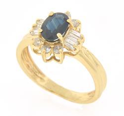 Elegant Sapphire & Diamond Band at 1.2 CTW