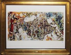 MARC CHAGALL LITHOGRAPH FROM MOURLOT ARCHIVES, EXODUS