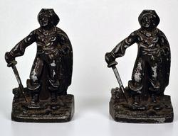Set of Two Vintage Metal Conquistador Bookends