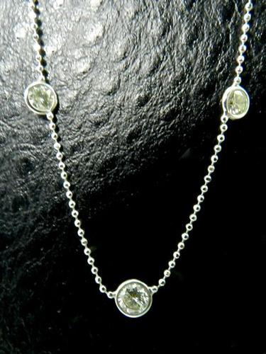 Feminine Diamond Station Necklace