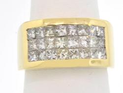 Gents 18kt Gold Ring with 2ctw of Diamonds