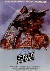 George Lucas Signed Star Wars Empire 12x18 Poster Photo