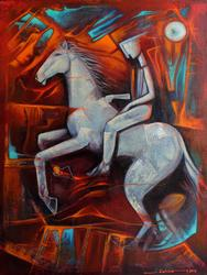 Juan Cotrino Original Mixed Media on Canvas