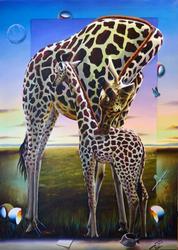 Exceptional Ferjo Original Acrylic On Canvas