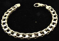 Gents 10kt Two Tone Heavy Bracelet