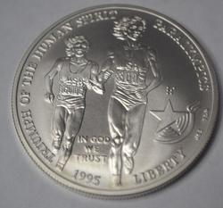 Scarcer 1995 Uncirculated Blind Runner Comm Silver Dollar