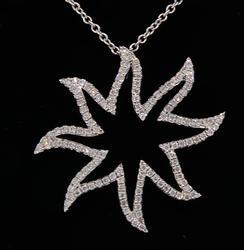DIAMOND SUN PENDANT NECKLACE
