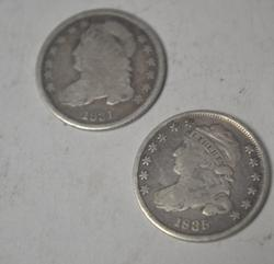 1831 and 1835 Bust Dimes